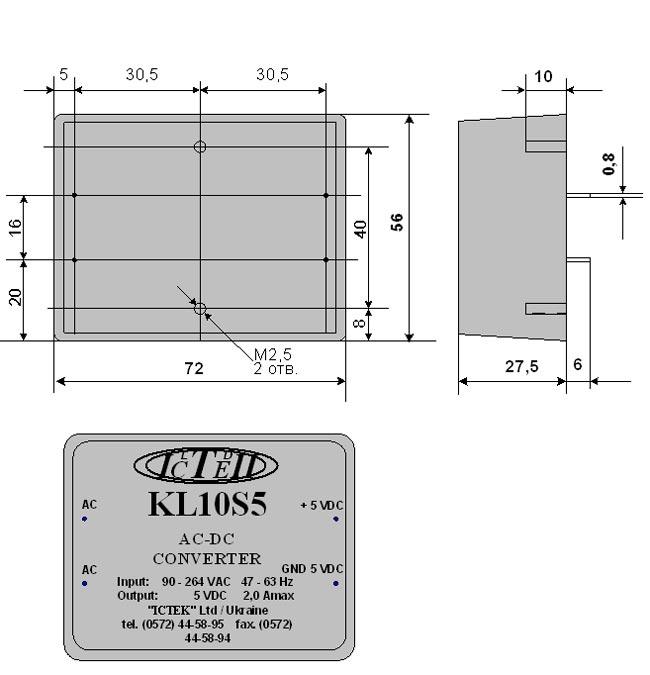 АC/DC-преобразователи серии KL10S
